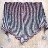 "Shawl kit ""Linus on the Line"" - Sky Pink/Anthracite"